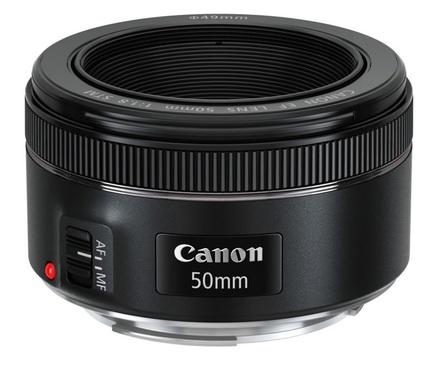 Canon EF 50mm f/1,8 STM + ochranný filtr + PL filtr + pouzdro!
