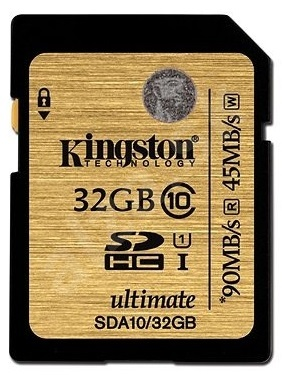 Kingston SDHC 32GB Class 10 UHS-I 90MB/s