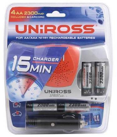 Uniross nabíječka SPRINT 15 + 4x AA 2300 mAh