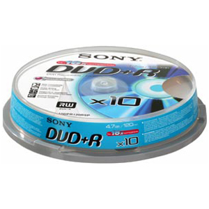 Sony DVD+R 4,7GB 10ks