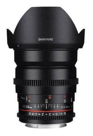 Samyang CINE 24mm T/1,5 VDSLR II pro Pentax