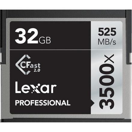 Lexar 32GB CF Professional 3500x CFast 2.0 525MB/s