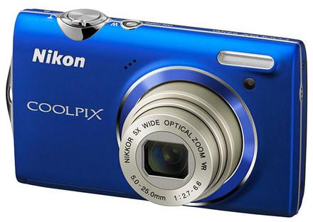 Nikon CoolPix S5100 modrý