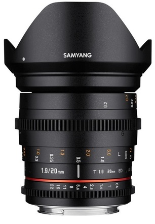 Samyang CINE 20mm T/1,9 VDSLR II ED AS UMC pro Nikon F
