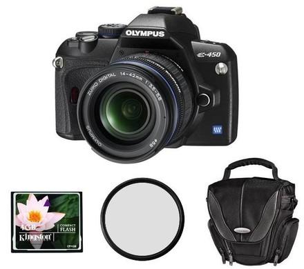 Olympus E-450 Kit + CF 4GB karta + brašna DF50 + filtr UV 58mm! + fotokniha zdarma!
