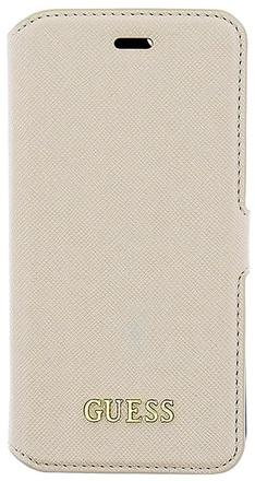 Guess Saffiano Book pouzdro Beige pro iPhone 6/6S