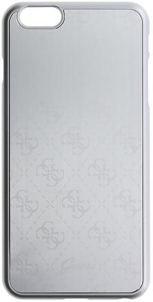 Guess 4G Metallic Hard pouzdro pro iPhone 6/6S Plus stříbrné