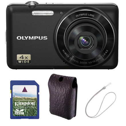 Olympus VG-150 černý + 4GB karta + pouzdro + kovový řetízek!