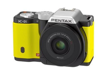 Pentax K-01 žlutý + 40 mm XS