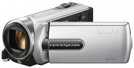 Sony DCR-SX21E stříbrná