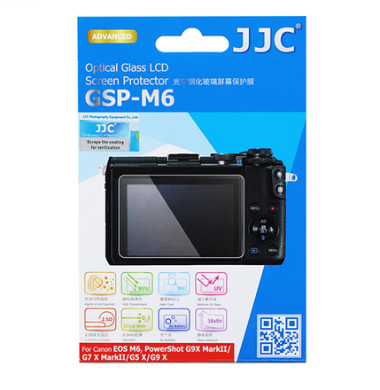 JJC ochranné sklo na displej pro Canon EOS M6, Powershot G9 X, G9 X Mark II, G7 X MarkII, G5
