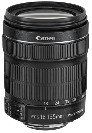 Canon EF-S 18-135mm f/3,5-5,6 IS STM + EW-73B + utěrka
