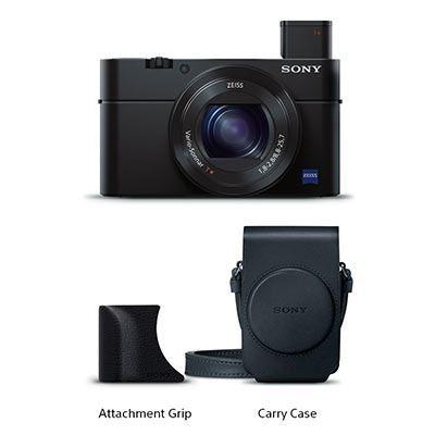 Sony CyberShot DSC-RX100 III + kožené pouzdro + grip