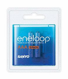 Sanyo Eneloop AAA baterie 750 mAh 2 ks