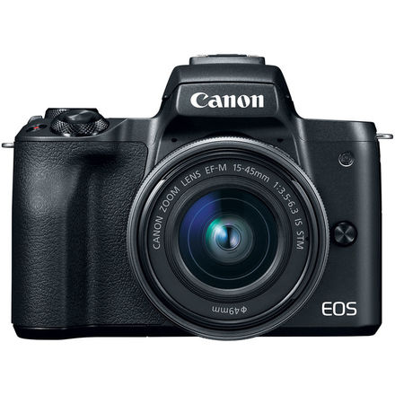 Canon EOS M50 + 15-45 mm + EF-S 50 mm + adaptér EF-EOS M černý