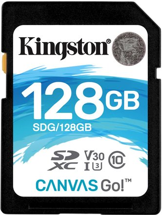 Kingston SDXC 128GB Canvas Go Class 10 UHS-I U3 V30