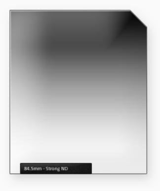 84.5mm Classic 100mm ND filtr silný s jemným přechodem