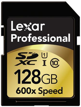 Lexar SDXC 128GB 600x, class 10, UHS-I