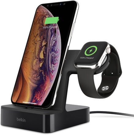 Belkin nabíjecí stojánek pro iPhone a Apple Watch, černý