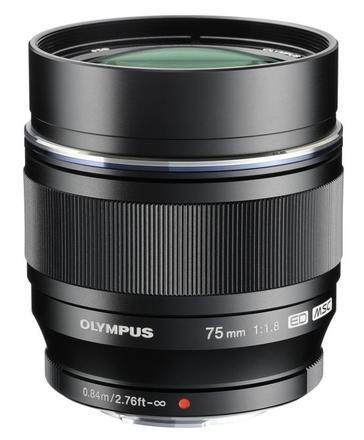 Olympus M.ZUIKO ED 75mm f/1,8 stříbrný
