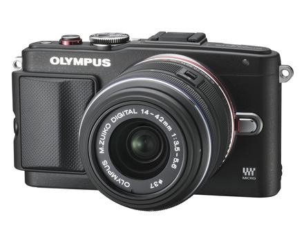 Olympus PEN E-PL6 + 14-42 mm II R + 40-150 mm R černý