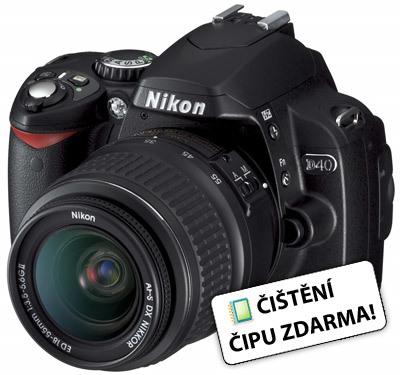 Nikon D40 černý + AF-S 18-55 mm f/3,5-5,6G ED II