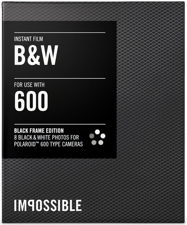 Impossible film 600 B/W černý rámeček