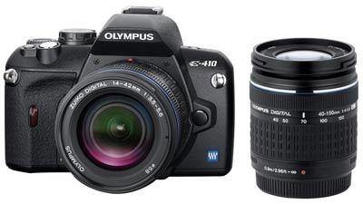 Olympus E-410 Double Zoom Kit + 4 GB CF karta!