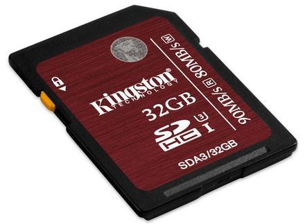 Kingston SDHC 32GB UHS-I Speed Class 3