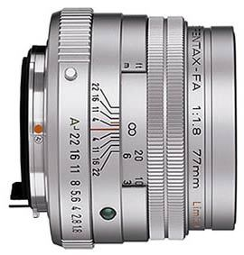 Pentax FA 77 mm F 1,8 Limited + pouzdro