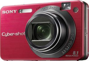 Sony DSC-W150 červený