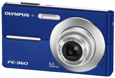 Olympus FE-360 modrý