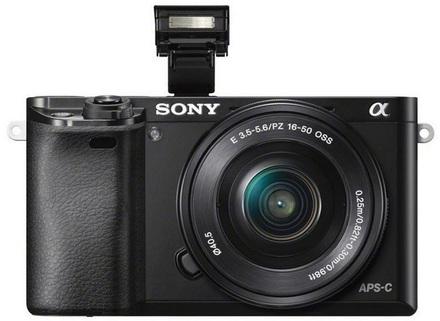 Sony Alpha A6000 tělo černý + 50mm f/1,8 SEL!