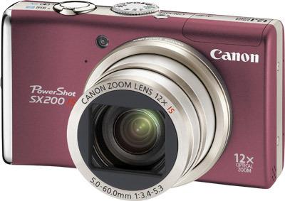 Canon PowerShot SX200 IS červený