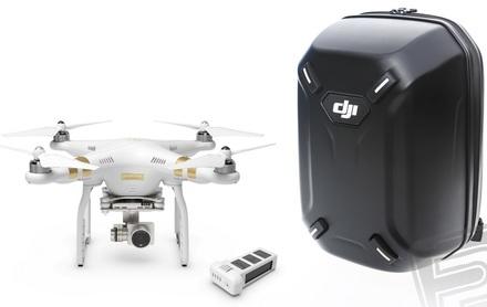 DJI kvadrokoptéra Phantom 3 Professional + náhradní akumulátor + skořepinový batoh!