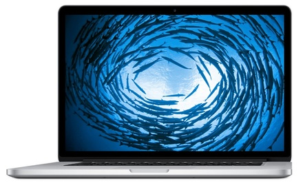 """Apple MacBook Pro 15"""" Retina 256GB MJLQ2CZ/A stříbrný"""