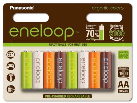 Panasonic Eneloop AA baterie ORGANIC 1900 mAh 8 ks