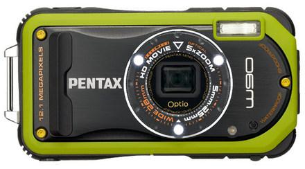Pentax Optio W90 zelený