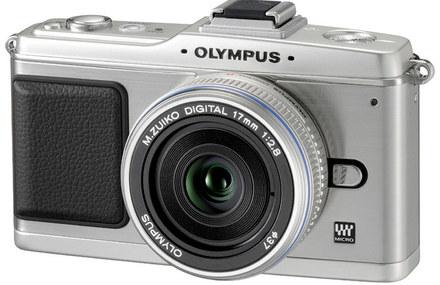 Olympus E-P2 stříbrný Pancake Kit