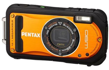 Pentax Optio W90 oranžový