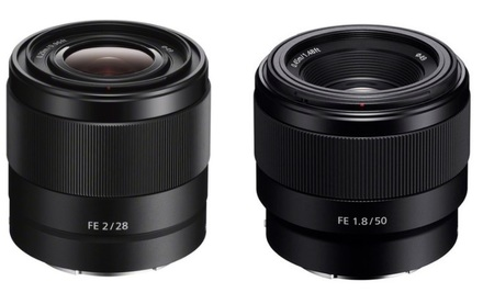 Sony FE 28mm f/2,0 SEL +  FE 50mm f/1,8!