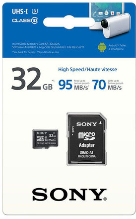 Sony Micro SDHC 32GB UHS-I Expert + Adaptér
