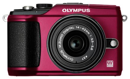 Olympus E-PL2 červený + 14-42 mm II