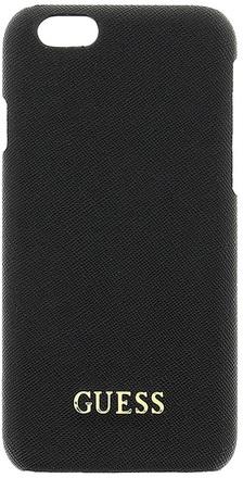 Guess Saffiano Zadní kryt pro iPhone 6/6S černý