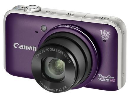 Canon PowerShot SX220 HS fialový