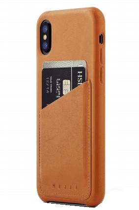 Mujjo kožené peněženkové pouzdro (celotělové) pro iPhone XS/X