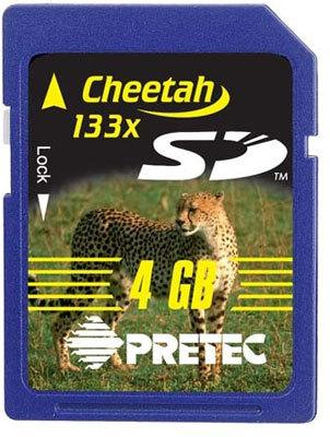 Pretec SD 4GB  cheetah 133x