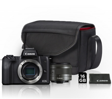Canon EOS M50 + 15-45 mm Value Up Kit!
