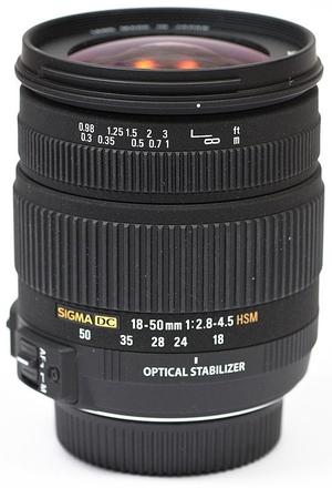 Sigma 18-50mm F 2,8-4,5 DC OS HSM pro Canon