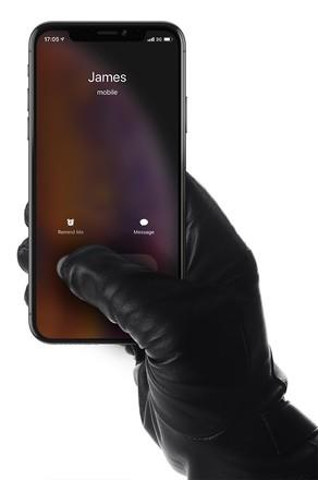 Mujjo kožené dotykové rukavice, velikost 8 černé